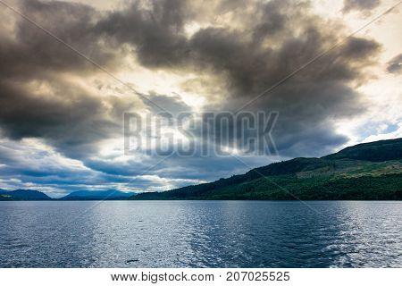 Blue Hour On Loch Ness, Scotland