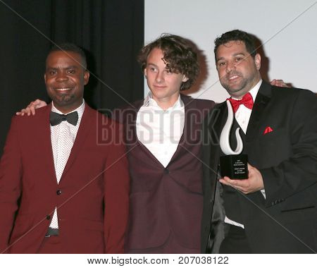 LOS ANGELES - SEP 30:  Delious Kennedy, Wyatt Oleff, Ron Truppa at the Catalina Film Festival Awards at the Casino on Catalina Island on September 30, 2017 in Avalon, CA