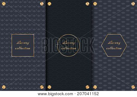 Collection of dark backgrounds for elegant packaging of luxury products.