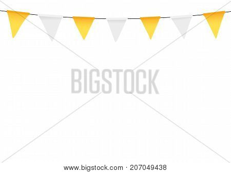 Thanksgiving bunting flags. Holiday decorations. Vector illustration