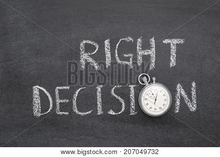 Right Decision Watch