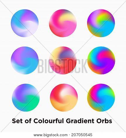Set Of Colorful Futuristic Orbs