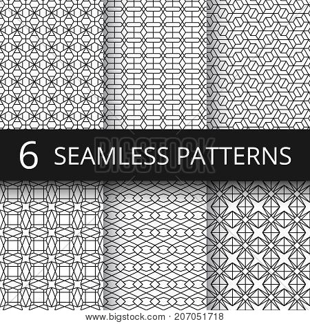 Modern simple geometric vector seamless patterns. Geometrical repeat fabric prints. Geometric background line pattern illustration