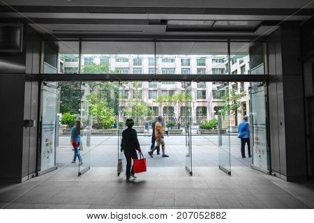 Entrance of the shopping mall