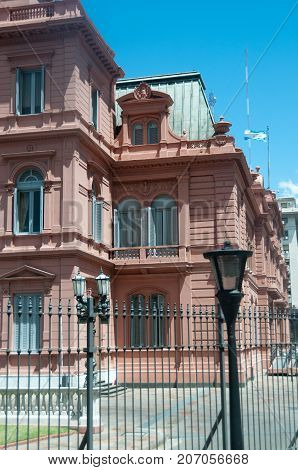 The Casa Rosada, also known as the pink house, is the official executive manion and office of the president of Argentina.