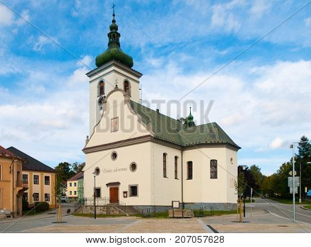 St Catherine's church in Volary, Sumava Mountains, Czech Republic.