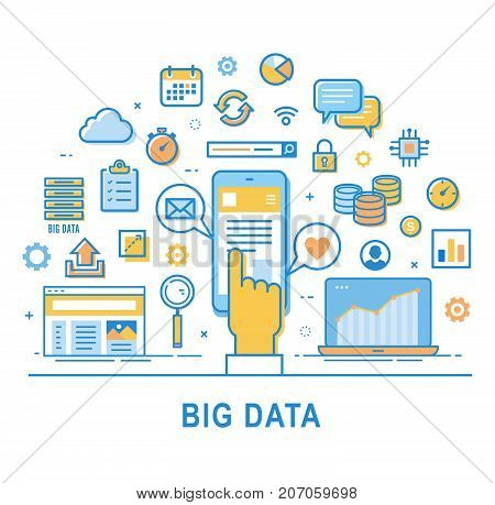 Big Data Vector  Set Vector & Photo (Free Trial) | Bigstock