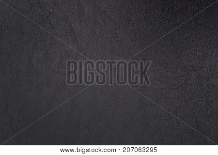 Black leatherette texture for background and empty space for text or graphic decoration