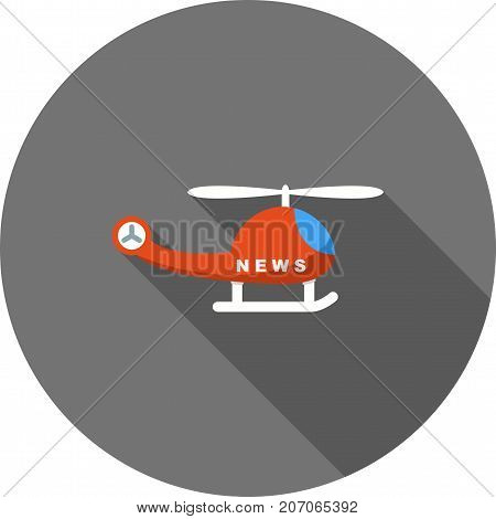 News, camera, helicopter icon vector image. Can also be used for news and media. Suitable for mobile apps, web apps and print media.