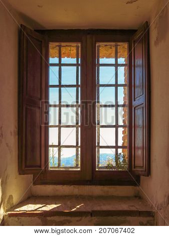 Window of the Fortress of San Leo Italy