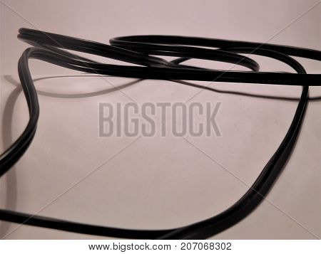 The optic cabel on white paper as background