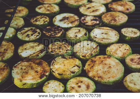 Zucchini Grill Spices Kitchen Vegetables Menu Tavern