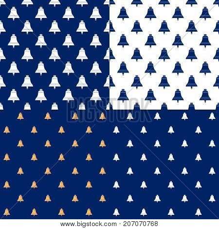 Set of Maritime Backgrounds Seamless Marine Pattern with Ship Bell Travel and Tourism Concept Vector Illustration
