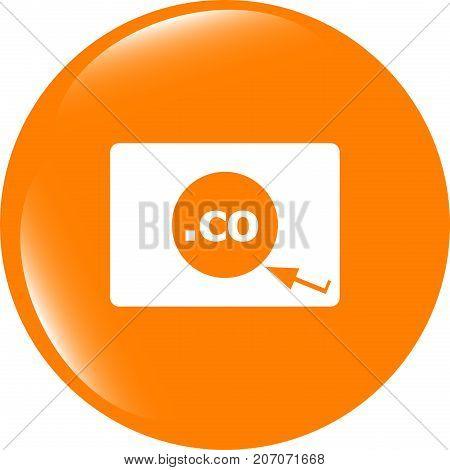 Domain Co Sign Icon. Top-level Internet Domain Symbol