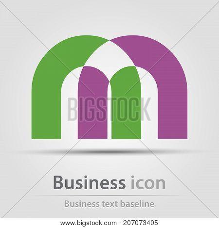 Originally created business icon with m like shape