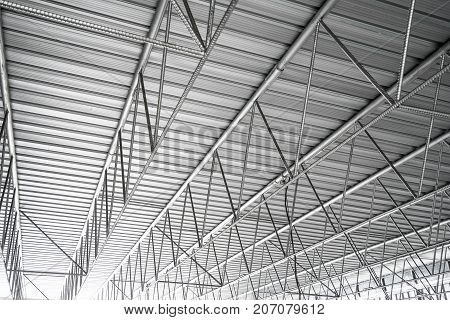 Factory structure roof texture background, architecture detail