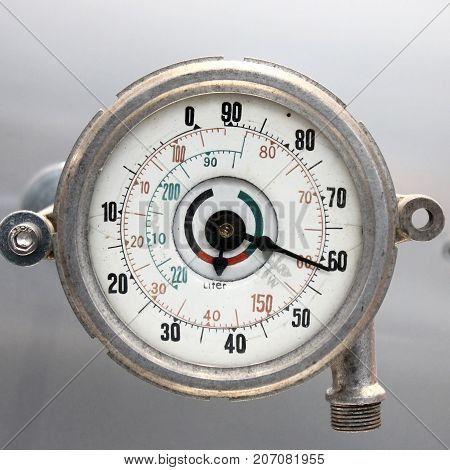 Old Vintage German Airplane gage with based on a white background isolated.