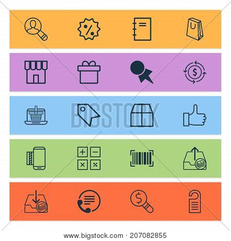 E-Commerce Icons Set. Collection Of Outgoing Earnings, Withdraw Money, Finance And Other Elements