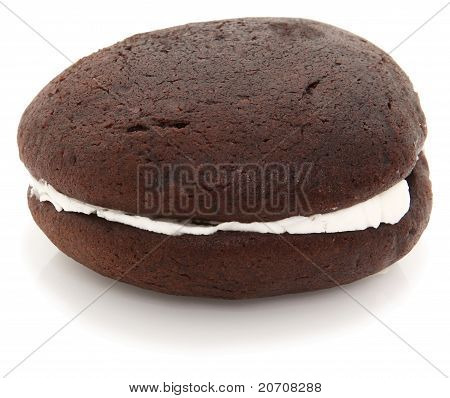 Whoopie Pie On White Background