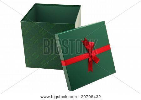 Green Present Isolated