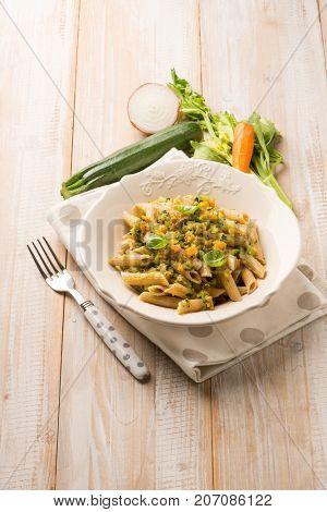 pasta with vegetarian ragout