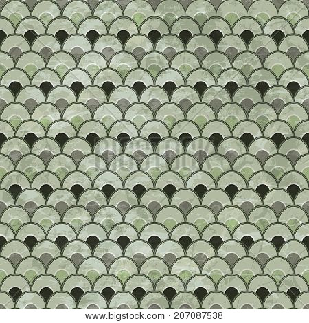 Abstract grunge green dirty geometric pattern illustration