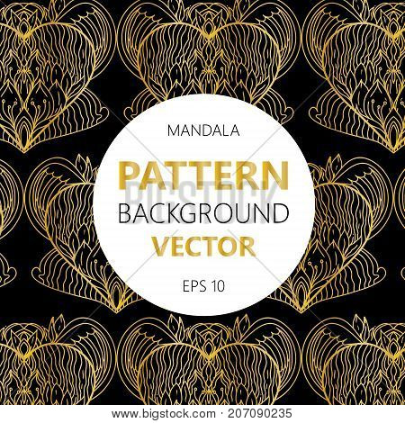 Mandalas Pattern. Vintage Decorative Elements With Mandala. Hand Drawn Mandala Background. Islam, Ar