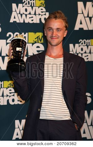 LOS ANGELES - JUN 5:  Tom Felton in the press room of the 2011 MTV Movie Awards at Gibson Ampitheatre on June 5, 2011 in Los Angeles, CA
