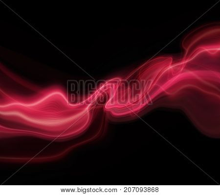 Red and black modern futuristic background with abstract waves