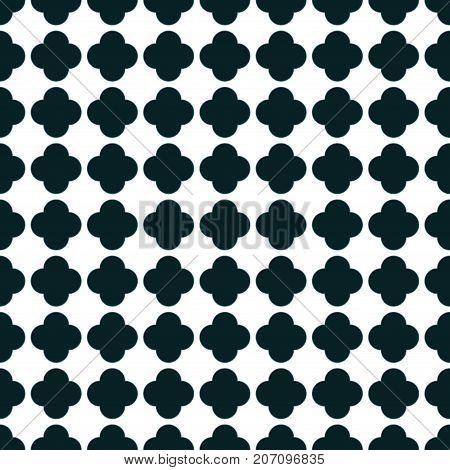 GEOMETRIC SEAMLESS PATTERN WITH ARC IN BLACK AND WHITE COLOR
