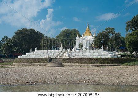 Model of Mingun Pahtodawgyi or mingun pagoda is an incomplete monument stupa in Mingunmandalaymyanmar poster