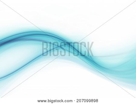 Blue and white modern futuristic background with abstract waves