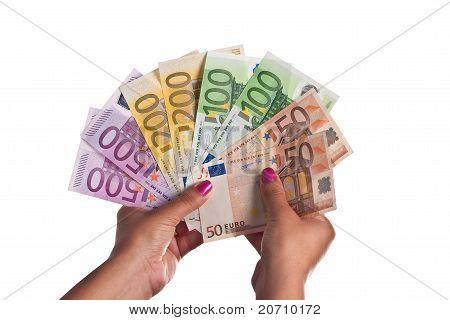 Range Of Euro Banknotes
