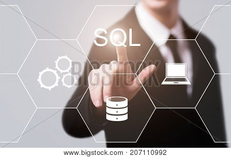SQL Programming Language Web Development Coding Concept.