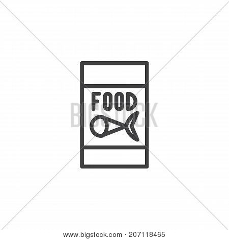 Fish food for fishing line icon, outline vector sign, linear style pictogram isolated on white. Symbol, logo illustration. Editable stroke