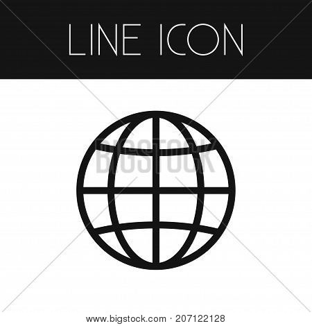 Worldwide Vector Element Can Be Used For Worldwide, Globe, World Design Concept.  Isolated Globe Outline.