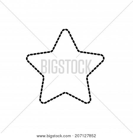 dotted shape nice star spartly design icon vector illustration
