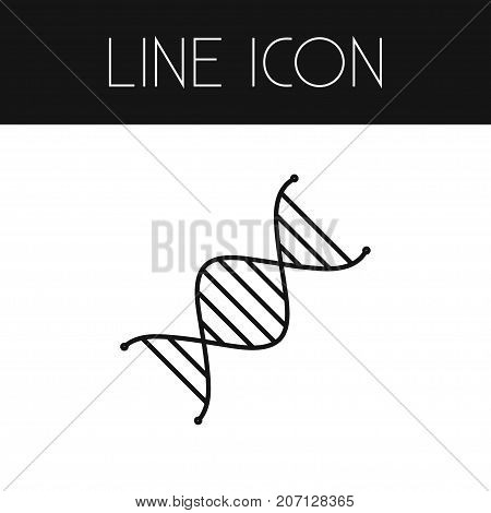 Genome Vector Element Can Be Used For Dna, Genome, Helix Design Concept.  Isolated Dna Outline.