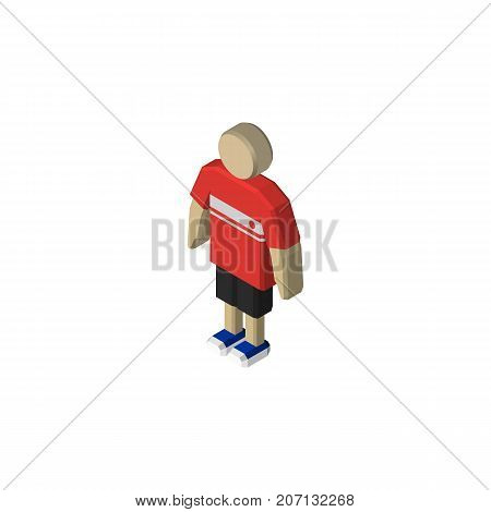 Guy Vector Element Can Be Used For Boy, Guy, Man Design Concept.  Isolated Boy Isometric.