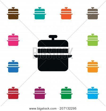 Culinary Vector Element Can Be Used For Culinary, Lid, Pan Design Concept.  Isolated Lid Icon.