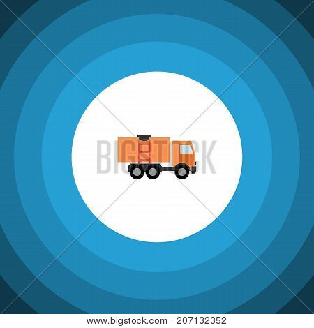 Van Vector Element Can Be Used For Truck, Van, Lorry Design Concept.  Isolated Truck Flat Icon.