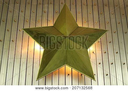 five-pointed star decorative wall lamp Soviet symbols in art