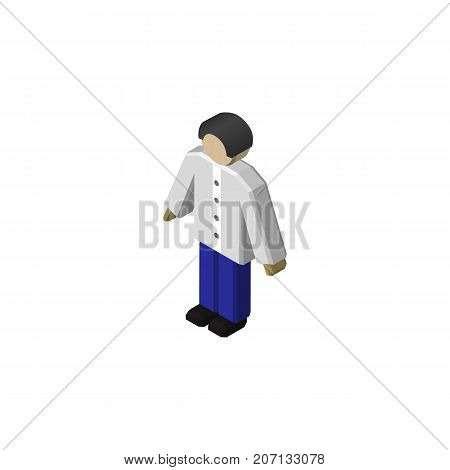 Male Vector Element Can Be Used For Man, Male, Boy Design Concept.  Isolated Man Isometric.
