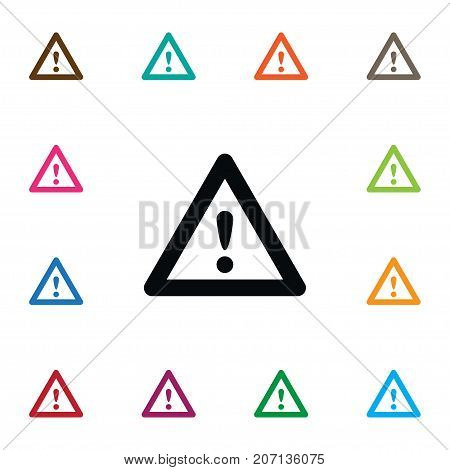 Highway Vector Element Can Be Used For Attention, Warning, Highway Design Concept.  Isolated Warning Icon.