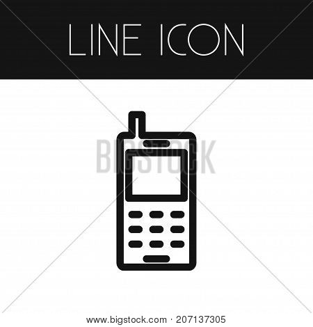 Cellphone Vector Element Can Be Used For Cellphone, Touchscreen, Smartphone Design Concept.  Isolated Smartphone Outline.