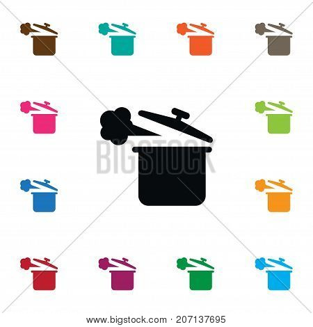 Lid Vector Element Can Be Used For Saucepan, Lid, Pan Design Concept.  Isolated Saucepan Icon.