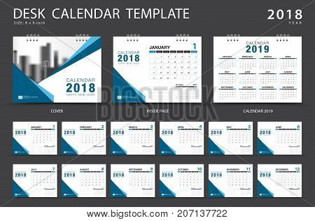 desk calendar 2018 vector photo free trial bigstock