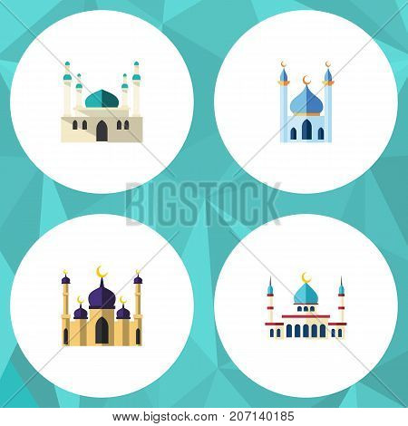 Flat Icon Mosque Set Of Mosque, Architecture, Islam And Other Vector Objects