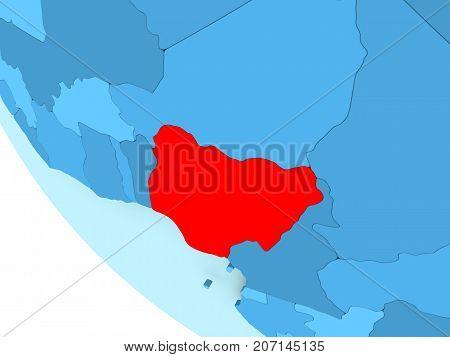 Nigeria On Blue Political Globe