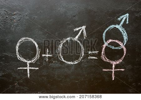 Male And Female Gender Symbol And Sign Of Heterosexuality